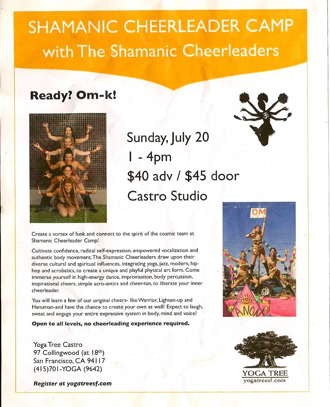 Shamanic Cheerleader Camp flyer