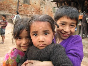 Children in Kathmandu