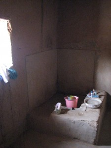 Bathroom in a mud-brick house in Ghourma-Rharous, Mali
