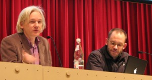 Wikileaks founders presenting at the 25th CCC